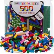 Building Bricks - 500 Pc Bulk Blocks - Includes 30 Roof Pieces Brick Separator - Compatible with Lego