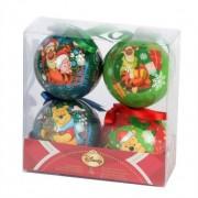 Eminza Set di 4 palle di Natale Disney Winnie l'orsachiotto Multicolor