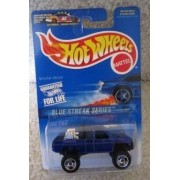 Mattel Hot Wheels 1997 Blue Streak Series 1:64 Scale Blue OFF-ROAD ATTITUDE Die Cast Car 2 OF 4 by Hot Wheels