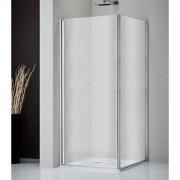 Douchecabine Sealskin Get Wet 205 Vierkant 2 Delig 100x100x195cm Mat Zilver Helder Glas
