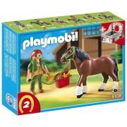 Playmobil 5108 - Cheval Et Palefrenière