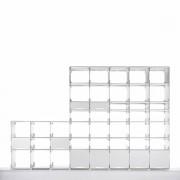 Kaether & Weise Plattenbau, weiß - Seitenwand 22cm, Fachhöhe: 25cm