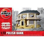 AIRFIX Kit Ready Built Unpainted Resin Buildings Polish Bank A75015