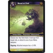 World of Warcraft Hunt for Illidan Single Card Mend or End #91 Uncommon [Toy]