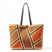 R studio Shopper aus Leder in Patchwork-Optik