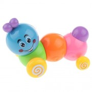 Generic Mini Rainbow Coloured Caterpillar Wind Up Toy for Kids Play Plastic