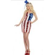 USA jurkje met glitters 36-38 (s)