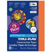 Pacon Corporaci-n PAC103002 Tru-Ray Papel de construcci-n 9 X 12 Naranja