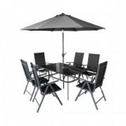 Set masa si sase scaune + umbrela HECHT SHADOW