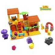 Safari Tree House Building block 73 pcs Duplo compatible toy set for preschool children playtime