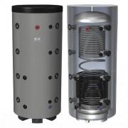 Rezervor de acumulare cu 1 serpentina pentru incalzire si cu 1 serpentina pentru prepararea apa calda menajera Hajdu, 750 l