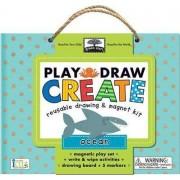 Play, Draw, Create Reuseable Drawing & Magnet Kit: Ocean by Steve Mack