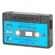 Cassette Forma Reproductor MP3 recargable w / TF - Negro + Azul (16GB)