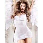 Baci White Padded Underwire Tulle Chemise Dress 786 - Medium/Large
