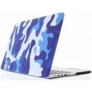 Blauwe legerprint design hardshell voor de MacBook 12 inch