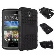 Funda Protector TPU Mixto HTC 526 Negro c/pie