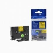 Brother TZ-S631/TZe-S631 12mm x 8m adhezní černý tisk/žlutý podklad kompatibilní