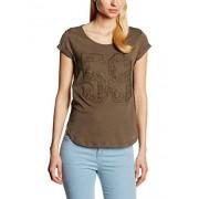Stefanel T-SHIRT JERSEY N. 59 MACRAME Camiseta para mujer, color marrón, talla L