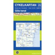 Fietskaart 19 Cykelkartan Göta kanal - Gota kanaal | Norstedts