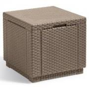 Cube multifunctionele voetenbank cappuccino