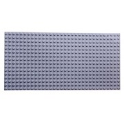 "Premium Light Gray Base Plate 20"" X 10"" Baseplate (Lego Duplo Compatible)"