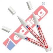 Edding 750 - Rotulador (& Creative brillo Marcador 3 Paquete ahorro, 10 colores & surtidos para elegir., color blanco
