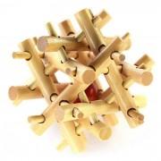 MAIKOU MK532 Valla Shape Puzzle de juguetes educativos de madera de enclavamiento