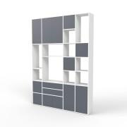 Wohnwand Weiß, MDF, 192 cm x 271 cm x 34 cm
