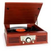 Auna 77-92W gramofón, USB, SD, AUX, FM, čerešňa (MG-RTT-92W)