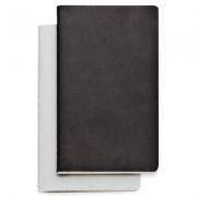 Study anteckningsbok 2-pack L, svart/vit