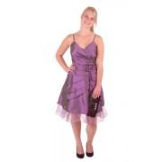 Korte jurk paars met v-hals-44/46