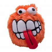 Rogz Grinz Plush Large 80mm Dog Squeak Toy - Orange