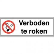 Verbodsbord - ''''Verboden te roken'''' - Zelfklevend