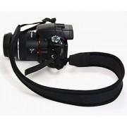 Cosmos Black Elasticity Anti-Slip Elastic Neoprene/Silicone Camera/shoulder/grip Neck Strap Belt for Panasonic Sony Canon Nikon Fuji Olympus Pentax Dslr + Cosmos Cable Tie