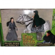ToyBiz Year 2001 The Lord of the Rings Movie Series The Fellowship of the Ring Deluxe Horse and Rider Set - Arwen with L