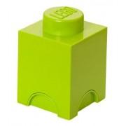 Room Copenhagen 40011220 Design Pop Moderne Brique de Rangement Lego Empilable 1 Plot Polypropylène Vert Clair 18 x 12,5 x 12,5 cm