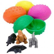 1 Dz Dinosaurs Eggs with Mini toy Dinosaur figures Inside - 12 Per Order