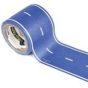PlayTape Classic Road Blue Road - Instantly Create your Own Roads Anytime Anywhere - For All Kids Who Love Cars & Trains - Perfect for Birthday Gifts & Endless Fun (Blue Road 30'x2 )