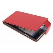 Rode classic flipcase voor de Huawei Ascend G700