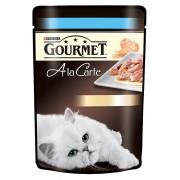 Pachet Pliculete Pisici GOURMET A La Carte Pastrav si Legume 12x85g