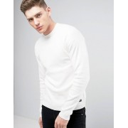 Only & Sons Knitted Jumper with Stepped Hem - Oatmeal (Sizes: XL, L)