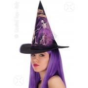 Palarie vrajitoare imprimata mov Halloween