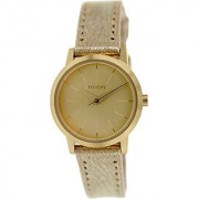 Nixon A398-1877 Ladies Kenzi Leather Gold Shimmer Watch