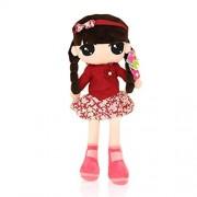 WuKong 24.2'' Red Lovely Little Girl Dolls Cute Plush Toys for Girls
