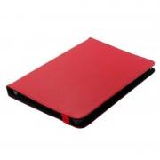 Bolsa em Pele Estilo Livro Universal para Tablet - 10.1 - Vermelho