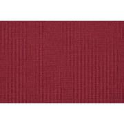 Tessuto Jersey a Coste in Pura Lana Rosso Lampone