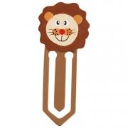 Fa könyvjelző, oroszlán