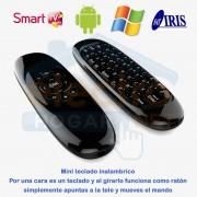 Mini teclado inalámbrico Air Mouse para smartTV, Pc, Android