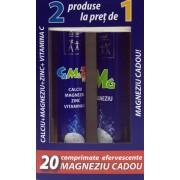 Zdrovit Calciu Magneziu Zinc si Vitamina C (20 comprimate ) + Magneziu Efervescent (20 tablete, gratuit)