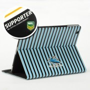 NRL Licensed Cronulla Sharks PU Leather Wallet Case for iPad Air 2